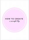 I'm launching a new ebook on how to create a successful blog